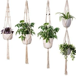 Other - New Set Of 4 Macrame Plant Hangers